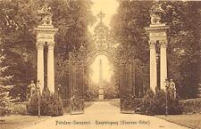 GERMANY POTSDAM SANSSOUCI HAUPTEINGANG (EISERNES GITTER) ROYALTY MUSEUM POSTCARD