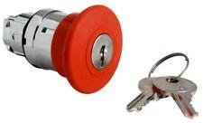 Red De Emergencia Hongo apagado botón pulsador lanzamiento clave de Enganche Cabeza Interruptor ZB4BS14