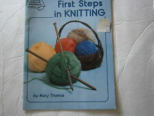 1983 First Steps in Knitting Pattern Book How To Afghan Baby Bonnet Hat Slippers