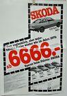 1978 Skoda 105S GL 120L GLS Coupe Rapid Models Sales Folder GERMAN Text Original