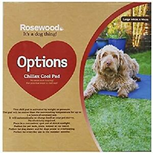 NEW- ROSEWOOD OPTIONS CHILLAX COOL DOG COOLING PAD LARGE - 60 - 90cm