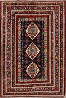 Decorative Geometric Ardebil Oriental Area Rug Wool Hand-Knotted 5'x7' Carpet