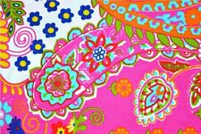 Indian Paisley Print Pure Cotton Fabric Sanganeri 5 Yard Fabric Vintage Running