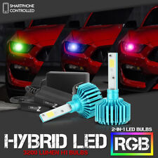 COLOR-CHANGING RGB [H1] COB LED Kit Low Beam Headlight Fog Light Lamp Conversion