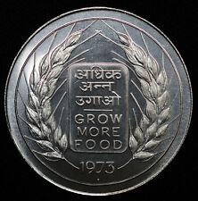 India 20 Rupees 1973 UNC BU KM#240 FAO Grow More Food 64K Minted Rare