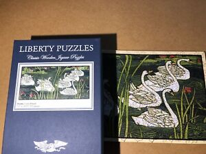 Liberty Classics Wooden Jigsaw Puzzles   Swans By Louis Rhead. 253 Pieces