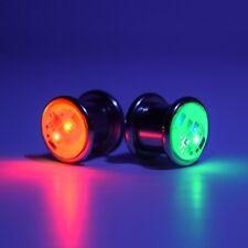 "Pair LED Multi-Color Light up Ear Gauge Plug Tunnel (Size: 10mm - 3/8""- 00G)"