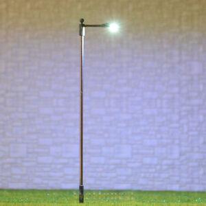10 x OO / HO gauge Model Train Lamps Lamp posts Led Street Lights #SD100S