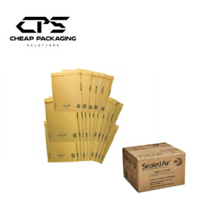 MULTI SIZE PACK CPS Mail Lite Bubble Padded Mailers Gold 10x10 Sizes 100 Pcs