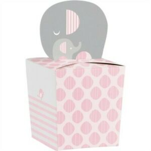Little Peanut Girl Baby Shower Favor Boxes Paper Wild Safari Pink 8 Pack Decor