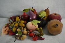 Fake Fruit & Birds Pomegranate Apples Pears Grapes