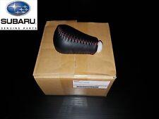 **GENUINE SUBARU** Subaru WRX STI Gear Shift Knob Leather Red Stitching 5 Speed