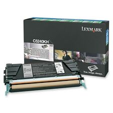 Genuine Lexmark C5240KH Black High Yield Toner Cartridge C524 C534