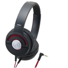Audio-Technica ATH-WS55X/BRD Headphones Solid Bass ATHWS55X Black/Red