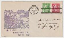 1935 USA FDC - Battle of Yorktown, VA