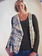 Knitting Pattern For Lady's Waistcoat In Colinette Giotto Yarn- Sizes 32-42in
