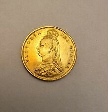 More details for 1887 gold half sovereign queen victoria
