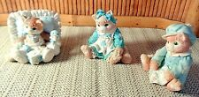 3 Collectible Enesco Calico Kittens by Prisilla Hillman / Numbered