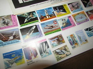 Space Shuttle Rockets Collection of 22 Stamps.