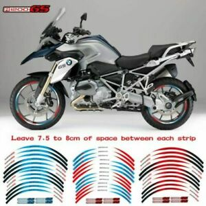 For BMW R1200GS /ADV 2013-2019 Wheel Paster Rim Decal Motorbike Stripes Sticker