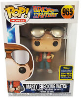 Marty Checking Watch Funko Pop Vinyl #965 Back To The Future SDCC 2020 Exclusive