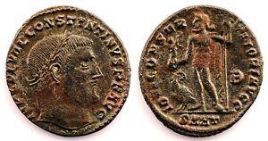 Imperio Romano-Constantino I. Follis 313-314 d.C. Heraclea. Cobre 4 g.