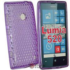 Cover Custodia Per Nokia Lumia 520 Viola Gel Silicone TPU silicone