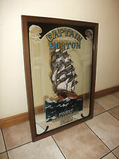 Captain NORTON Caribbean Rum, Old Irish pub Mirror, Very RARE. Pub Auction,