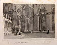 AUDOT INCISIONE IN ACCIAIO 1857 VENEZIA CROCIATA DELLA CHIESA DI SAN MARCO