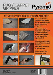 Rug Grip, Carpet Gripper, Non-Slip for use on rug to carpet or rug to hard floor