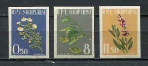 10602) Albania 1962 Scott # 613/15 Flowers Imperf