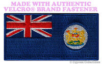 OLD HONG KONG FORMER COLONIAL FLAG PATCH CHINA CHINESE w/ VELCRO® Brand Fastener
