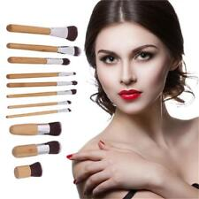 Natural Bamboo Handles Soft Bristles Eco-friendly 11pcs Makeup Brush Set B