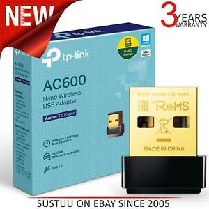 TP-Link Archer T2U Nano AC600 Dual Band Wireless USB 2.0 WiFi Adapter│Laptop/ PC