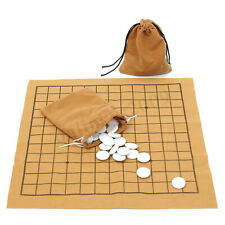 AU 90Pcs Professional Go Game Weiqi Bang Mental Suede Leather Board Sheet Play