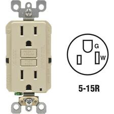 5 Pk Leviton Self-Test 15A Ivory 5-15R GFCI Electric Outlet 3/Pk M01-GFNT1-03I