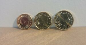 10, 20, 50 cents Euro Luxembourg 2021 UNC Face Nationale Duc Henri