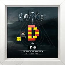 Lego personalised Harry Potter picture frame.Ron. Hermione. Quidditch Harry
