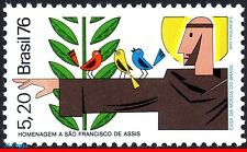 1477 BRAZIL 1976 ST. FRANCIS ASSISI, RELIGION, BIRDS, CELEBRITIES, MI# 1562, MNH
