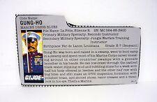 G.I. JOE GUNG HO FILE CARD Vintage Action Figure GREAT SHAPE 1987