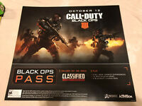 "Call Of Duty Black Ops 4 Zombies Gamestop Promo Poster 24x22"" Game ART Ps4 XBOX"