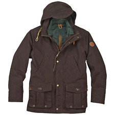 Men's Timberland Waxed Canvas 3-in-1 Field Coat Mole Brown XL #NKO3V-985