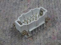 1x Stk Stifteinsatz 10 pol PE 16A 500VAC  B10 Walther Werke 710210 Procon