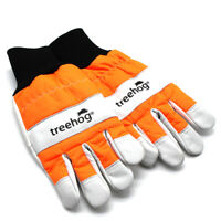 TREEHOG® LEATHER CHAINSAW GLOVES S - M - L - XL PROTECTION ORANGE HI-VIS COWHIDE