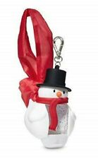 Bath & Body Works Jack the Snowman Bag Pocket *Bac Gel Holder With Clasp Nwt