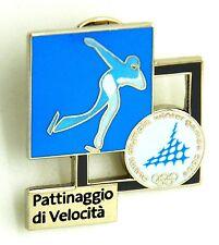 Pin Spilla Olimpiadi Torino 2006 - Pittogrammi Pattinaggio Di Velocità