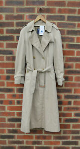 *STUNNING* Burberry Ladies VINTAGE (80-90s) Long Trench Coat UK10 US8 EU38