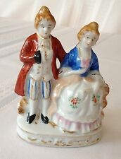64+ YEAR OLD VINTAGE OCCUPIED JAPAN PORCELAIN FIGURINE ~ Aristocratic Couple