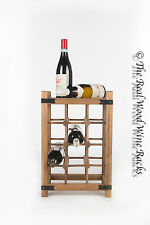 New Real Wooden Rustic Wine Rack / Cabinet, 12 Bottles with Table Top Vertical