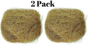 Natural Coconut Fiber Nesting Material Birds Finch Nest Small Animal Cage 2 pack